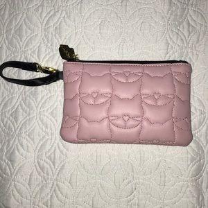 Adorable pink kitty cat Betsy Johnson wristlet!